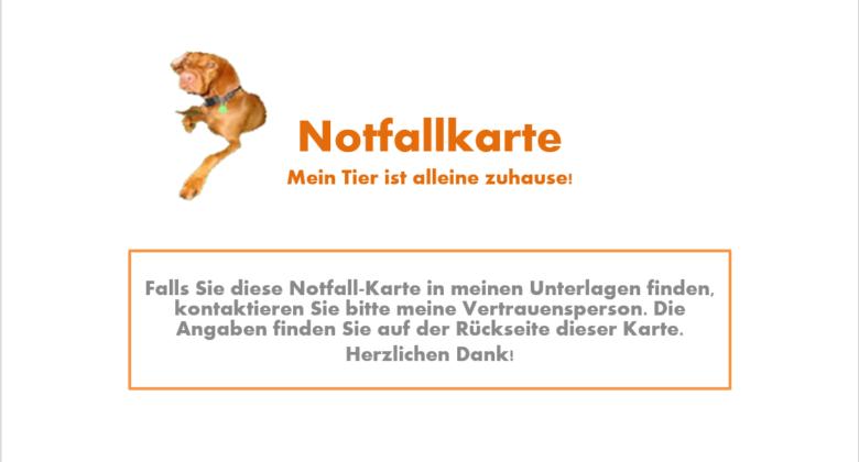 MeinFerienhund - Notfallkarte